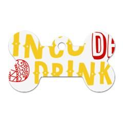 Cinco De Drinko Dog Tag Bone (two Sides) by CraftyLittleNodes