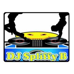 Dj Logo Transparent Fleece Blanket (small) by Acid909