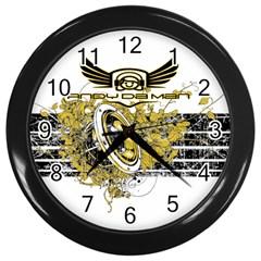 Andy Da Man Wall Clocks (black) by Acid909