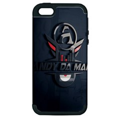 Andy Da Man 3d Dark Apple Iphone 5 Hardshell Case (pc+silicone) by Acid909
