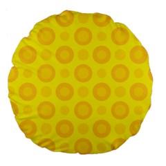 Cheese Background Large 18  Premium Flano Round Cushions by berwies