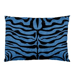 Skin2 Black Marble & Blue Colored Pencil (r) Pillow Case by trendistuff