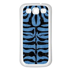 Skin2 Black Marble & Blue Colored Pencil (r) Samsung Galaxy S3 Back Case (white) by trendistuff