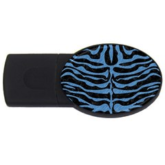 Skin2 Black Marble & Blue Colored Pencil Usb Flash Drive Oval (2 Gb) by trendistuff