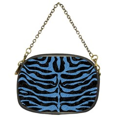 Skin2 Black Marble & Blue Colored Pencil Chain Purse (one Side) by trendistuff