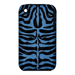 Skin2 Black Marble & Blue Colored Pencil Apple Iphone 3g/3gs Hardshell Case (pc+silicone) by trendistuff