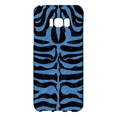 Skin2 Black Marble & Blue Colored Pencil Samsung Galaxy S8 Plus Hardshell Case  by trendistuff