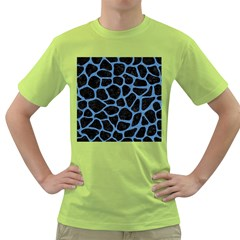 Skin1 Black Marble & Blue Colored Pencil (r) Green T Shirt by trendistuff