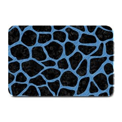 Skin1 Black Marble & Blue Colored Pencil (r) Plate Mat by trendistuff