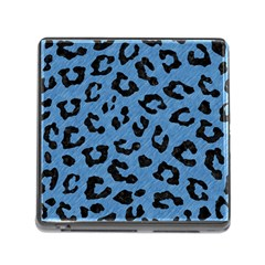 Skin1 Black Marble & Blue Colored Pencil Memory Card Reader (square) by trendistuff