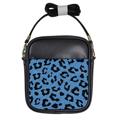 Skin1 Black Marble & Blue Colored Pencil Girls Sling Bag by trendistuff