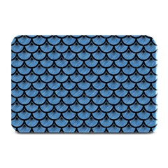 Scales3 Black Marble & Blue Colored Pencil (r) Plate Mat by trendistuff