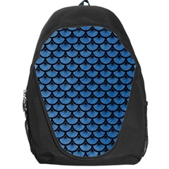 Scales3 Black Marble & Blue Colored Pencil (r) Backpack Bag by trendistuff