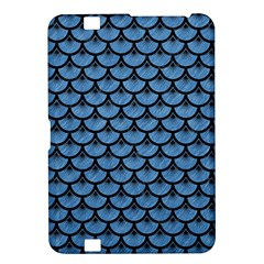Scales3 Black Marble & Blue Colored Pencil (r) Kindle Fire Hd 8 9  Hardshell Case by trendistuff