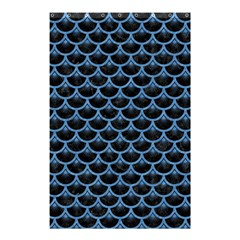 Scales3 Black Marble & Blue Colored Pencil Shower Curtain 48  X 72  (small) by trendistuff
