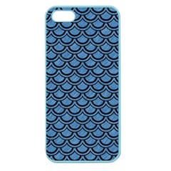 Scales2 Black Marble & Blue Colored Pencil (r) Apple Seamless Iphone 5 Case (color) by trendistuff