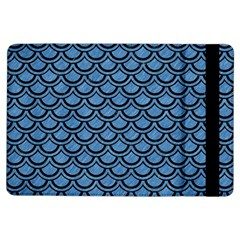 Scales2 Black Marble & Blue Colored Pencil (r) Apple Ipad Air Flip Case by trendistuff