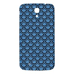 Scales2 Black Marble & Blue Colored Pencil (r) Samsung Galaxy Mega I9200 Hardshell Back Case by trendistuff