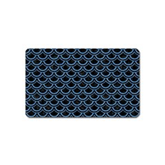Scales2 Black Marble & Blue Colored Pencil Magnet (name Card) by trendistuff