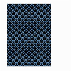 Scales2 Black Marble & Blue Colored Pencil Large Garden Flag (two Sides) by trendistuff