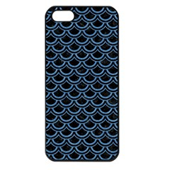 Scales2 Black Marble & Blue Colored Pencil Apple Iphone 5 Seamless Case (black) by trendistuff