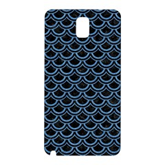 Scales2 Black Marble & Blue Colored Pencil Samsung Galaxy Note 3 N9005 Hardshell Back Case by trendistuff