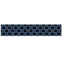 Scales2 Black Marble & Blue Colored Pencil Flano Scarf (large)