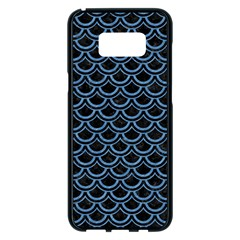 Scales2 Black Marble & Blue Colored Pencil Samsung Galaxy S8 Plus Black Seamless Case by trendistuff