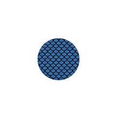 Scales1 Black Marble & Blue Colored Pencil (r) 1  Mini Magnet by trendistuff