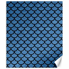 Scales1 Black Marble & Blue Colored Pencil (r) Canvas 20  X 24  by trendistuff