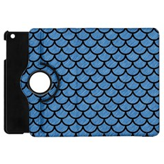 Scales1 Black Marble & Blue Colored Pencil (r) Apple Ipad Mini Flip 360 Case by trendistuff