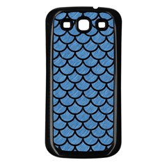 Scales1 Black Marble & Blue Colored Pencil (r) Samsung Galaxy S3 Back Case (black) by trendistuff
