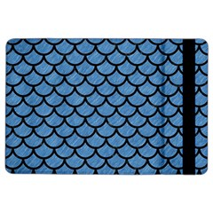 Scales1 Black Marble & Blue Colored Pencil (r) Apple Ipad Air 2 Flip Case by trendistuff
