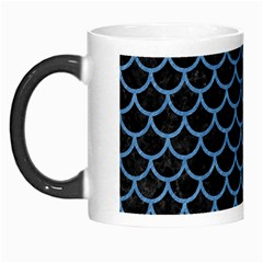 Scales1 Black Marble & Blue Colored Pencil Morph Mug by trendistuff