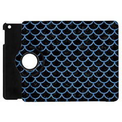 Scales1 Black Marble & Blue Colored Pencil Apple Ipad Mini Flip 360 Case by trendistuff
