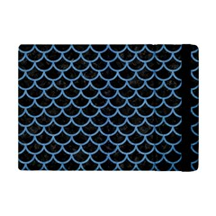 Scales1 Black Marble & Blue Colored Pencil Apple Ipad Mini 2 Flip Case by trendistuff