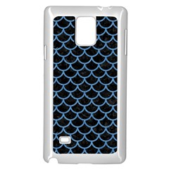 Scales1 Black Marble & Blue Colored Pencil Samsung Galaxy Note 4 Case (white) by trendistuff