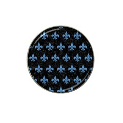 Royal1 Black Marble & Blue Colored Pencil (r) Hat Clip Ball Marker by trendistuff