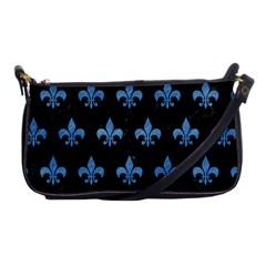 Royal1 Black Marble & Blue Colored Pencil (r) Shoulder Clutch Bag by trendistuff