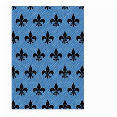 Royal1 Black Marble & Blue Colored Pencil Large Garden Flag (two Sides) by trendistuff