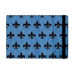 Royal1 Black Marble & Blue Colored Pencil Apple Ipad Mini Flip Case by trendistuff