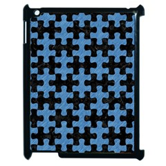 Puzzle1 Black Marble & Blue Colored Pencil Apple Ipad 2 Case (black) by trendistuff