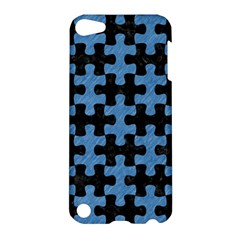 Puzzle1 Black Marble & Blue Colored Pencil Apple Ipod Touch 5 Hardshell Case by trendistuff