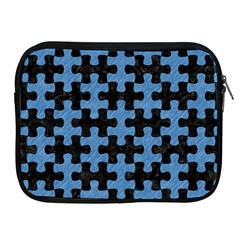 Puzzle1 Black Marble & Blue Colored Pencil Apple Ipad Zipper Case by trendistuff