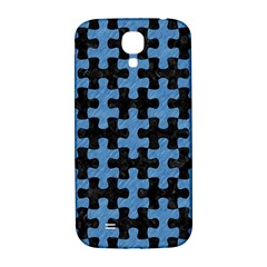 Puzzle1 Black Marble & Blue Colored Pencil Samsung Galaxy S4 I9500/i9505  Hardshell Back Case by trendistuff