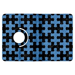 Puzzle1 Black Marble & Blue Colored Pencil Kindle Fire Hdx Flip 360 Case by trendistuff