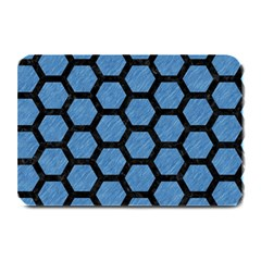 Hexagon2 Black Marble & Blue Colored Pencil (r) Plate Mat by trendistuff