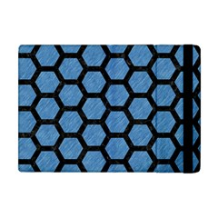 Hexagon2 Black Marble & Blue Colored Pencil (r) Apple Ipad Mini Flip Case by trendistuff