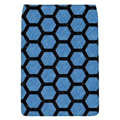 Hexagon2 Black Marble & Blue Colored Pencil (r) Removable Flap Cover (s) by trendistuff