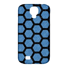 Hexagon2 Black Marble & Blue Colored Pencil (r) Samsung Galaxy S4 Classic Hardshell Case (pc+silicone) by trendistuff